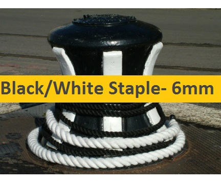 6mm Black or White Staple
