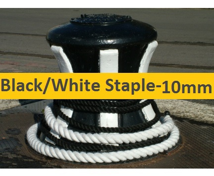 10mm Black or White Staple