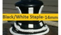 14mm Black or White Staple