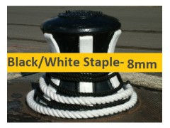 8mm Black or White Staple