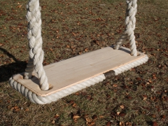 Rope Edged Cedar Tree Swing