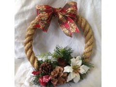 Christmas Rope Wreath